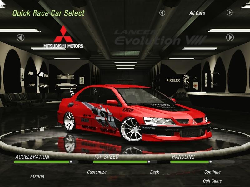 Mitsubishi Lancer Need For Speed Underground Rides Nfscars
