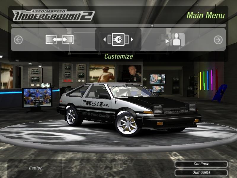 Toyota Corolla GTS (AE86) Need For Speed Underground 2 Rides