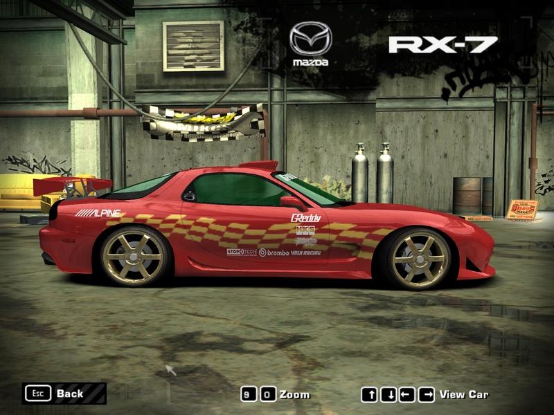 Mazda RX7 With Calfornia License Plates