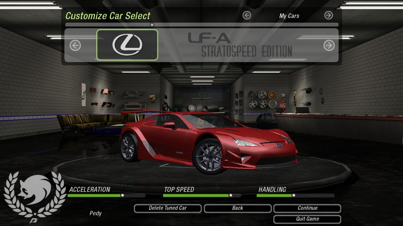 Need For Speed Underground 2 Lexus LFA StratoSpeed Edition v2 | NFSCars