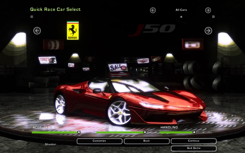 Need For Sd Underground 2 Ferrari J50 | NFSCars Ferrari J Rr on