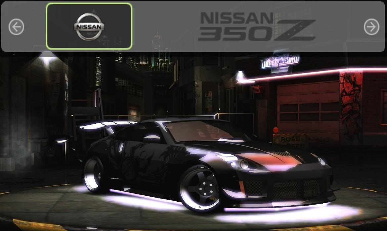 Need For Speed Underground 2 Nissan 350z Dk Vinyl Nfscars