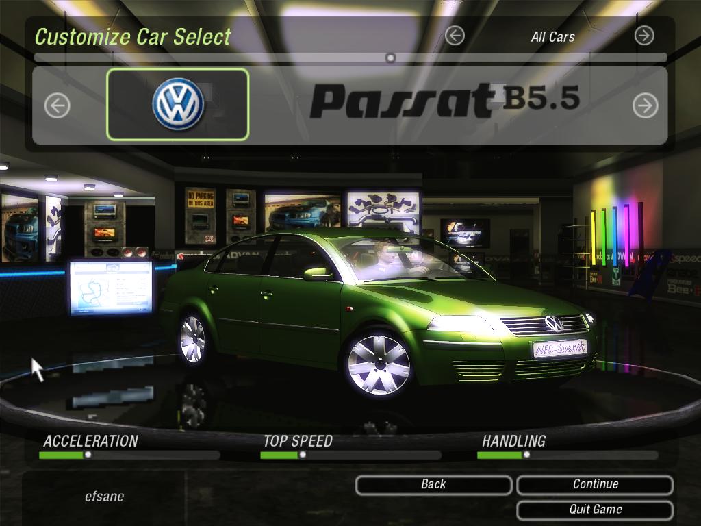 Need For Speed Underground 2 Volkswagen Passat B5 5 Beta Nfscars