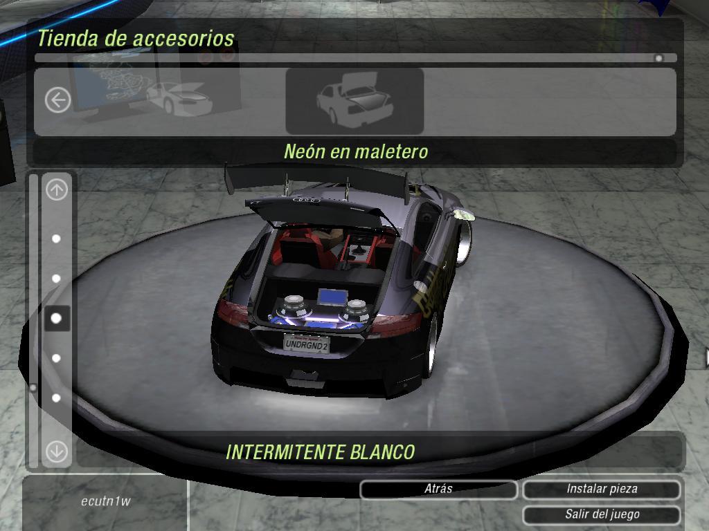 Need For Speed Underground 2 Audi Tt 2007stk Nfscars