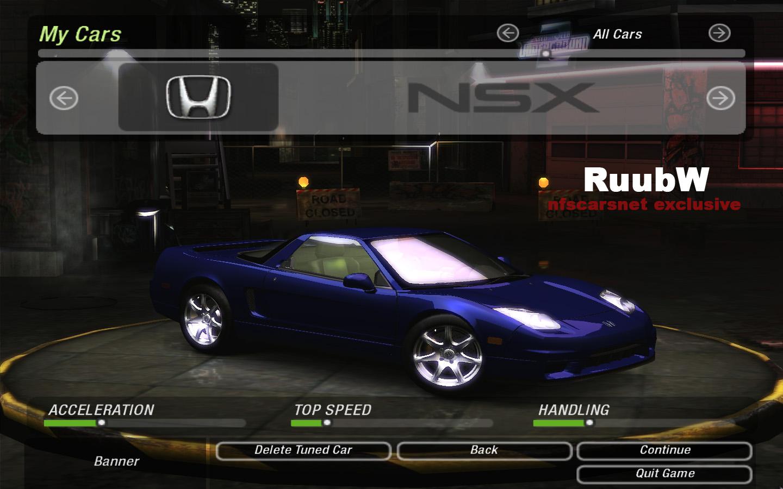 Need For Speed Underground 2 Honda Acura NSX | NFSCars