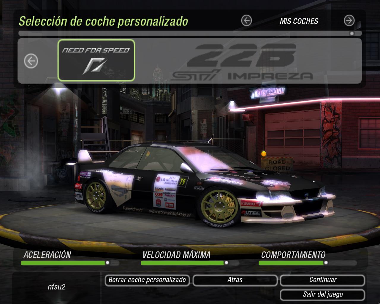 Subaru Rally Car >> Need For Speed Underground 2 Subaru Impreza 22b WRC   NFSCars