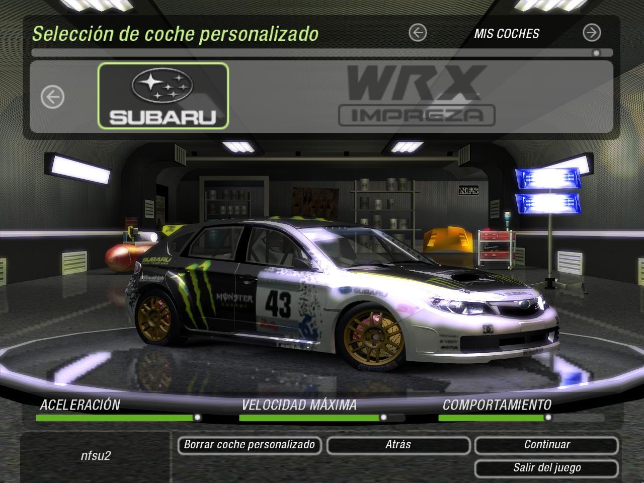 Need For Speed Underground 2 Subaru Impreza Wrx N14 Nfscars