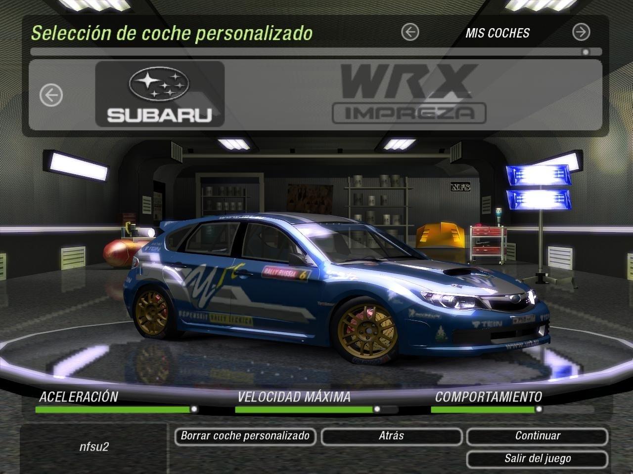 Need For Speed Underground 2 Subaru Impreza WRX N14 | NFSCars