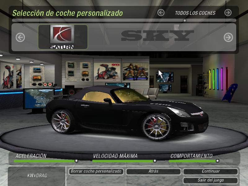 Need For Speed Underground 2 Saturn SKY