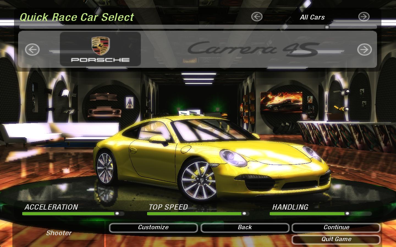 Need For Speed Underground 2 Porsche 911 (991) Carrera S