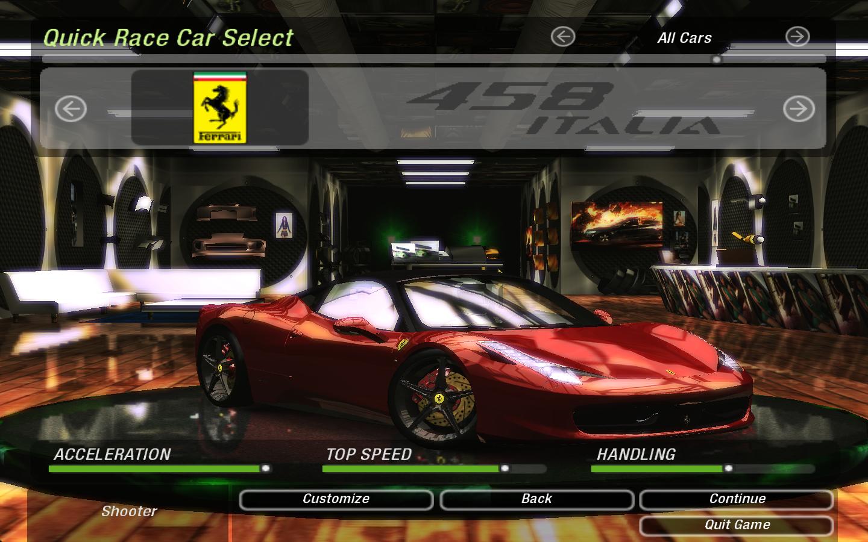 Ferrari Italia 458 >> Need For Speed Underground 2 Ferrari 458 Italia/458 Spider | NFSCars