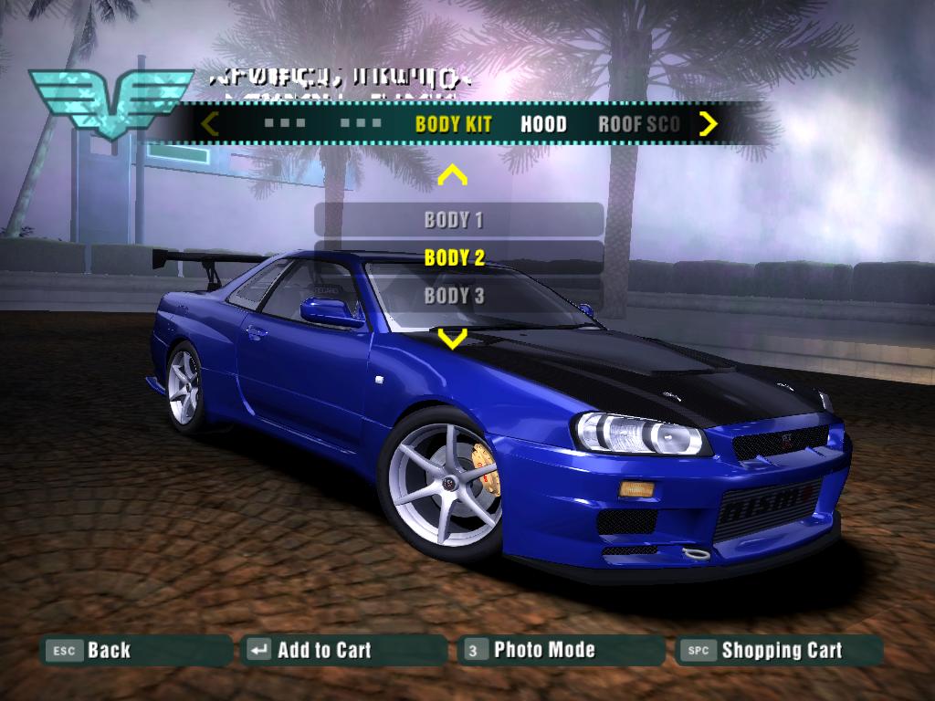Need For Speed Carbon Nissan Skyline Gt R V Spec Ii Nur R34 Nfscars