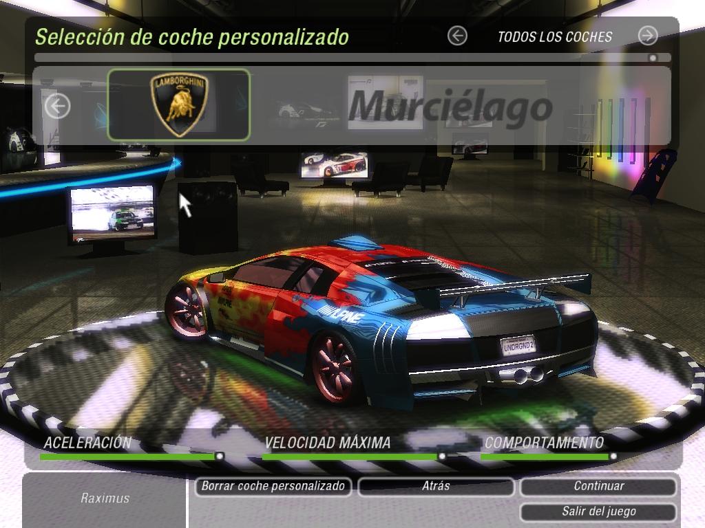 Need For Speed Underground 2 Lamborghini Murcielago Nfsc