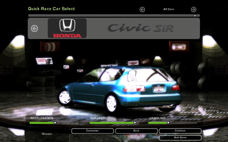 Need For Speed Underground 2 Honda Civic Sir