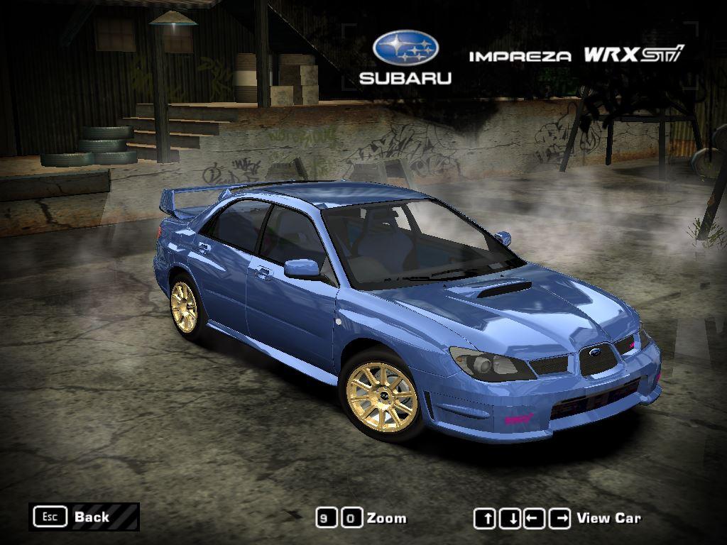 Subaru Rally Car >> Need For Speed Most Wanted Subaru Impreza WRX STi (2006 ...