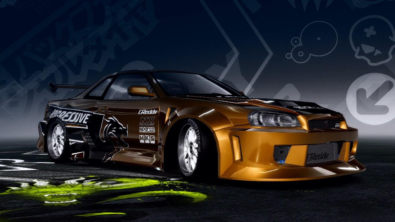 Need For Speed Pro Street Nissan SKYLINE R34 GTR v2.2 ...