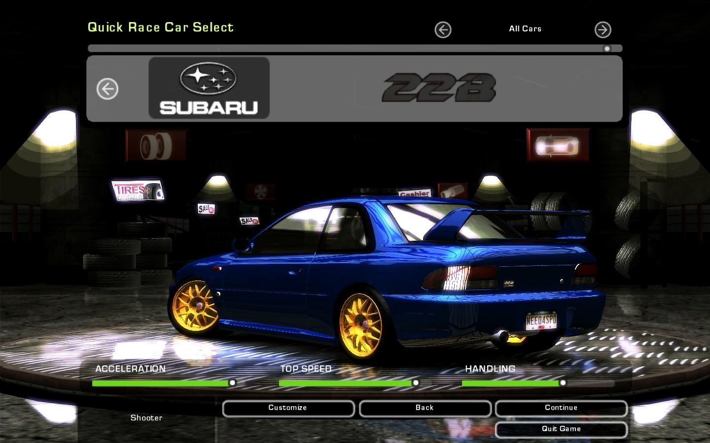 Car Fpd on Subaru Impreza 22b Sti