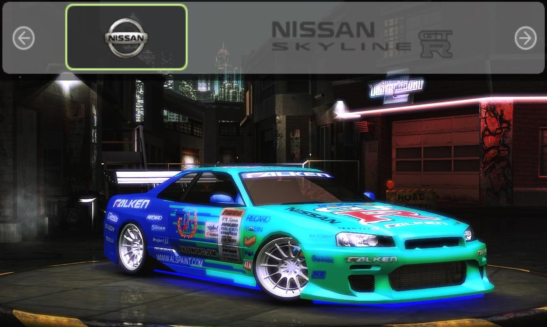 Need For Speed Underground 2 Nissan Skyline - Falken Vinyl ...