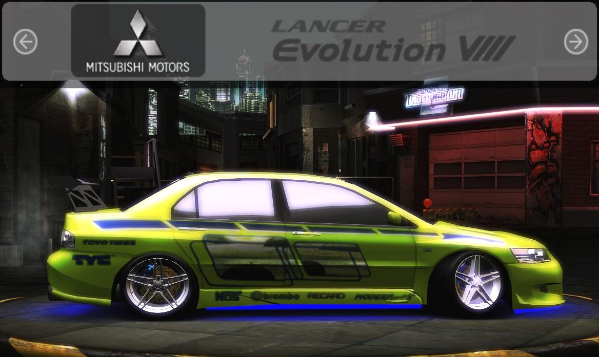 Need For Speed Underground 2 Mitsubishi Lancer Evolution 8